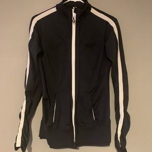 Lululemon Zip Up Jacket - Black with White